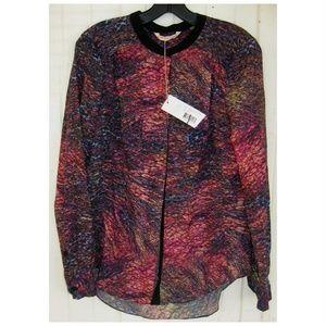 NEW $275 Rebecca Taylor Silk Print Blouse Size 10